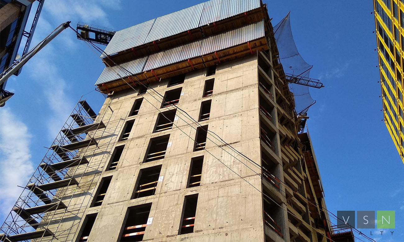 Строительная готовность ЖК «Савеловский Сити» к началу июля
