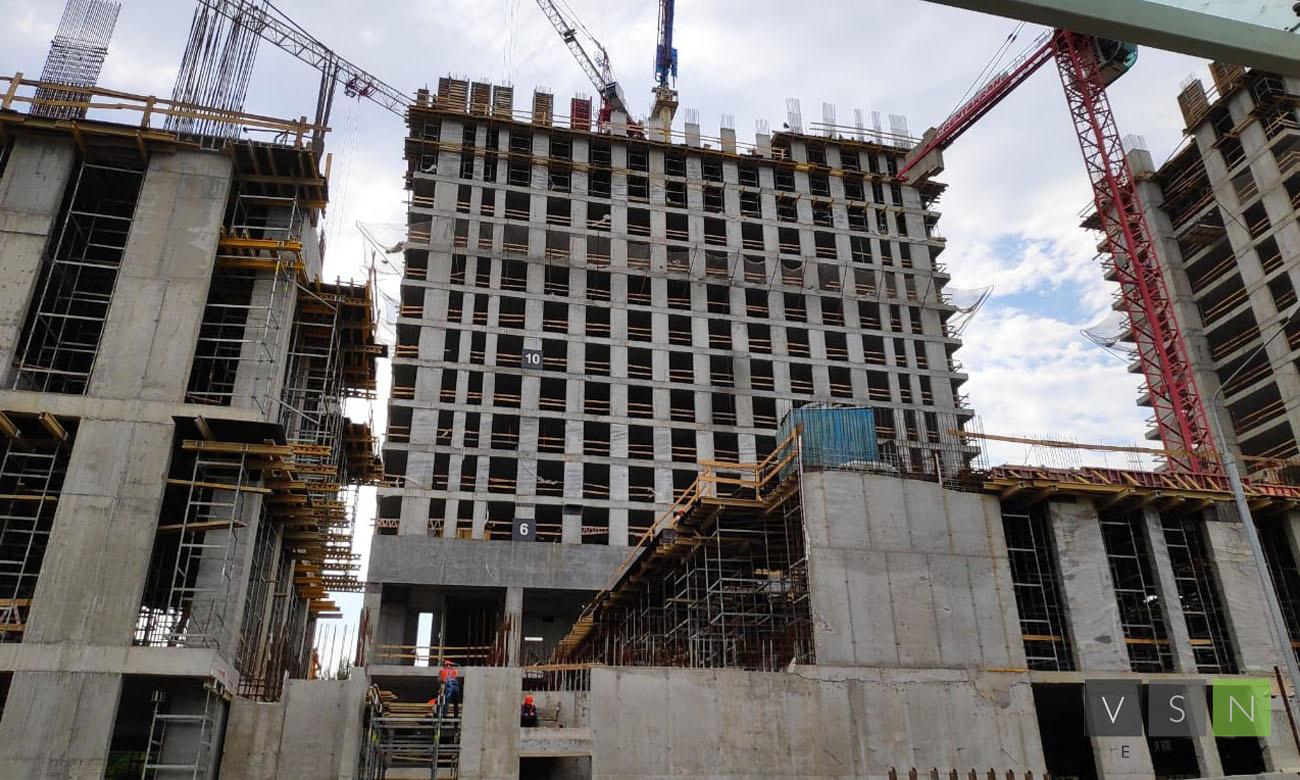 Строительная готовность ЖК «Discovery Park» к началу июля